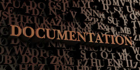 Documentation - Wooden 3D rendered lettersmessage.  Can be used for an online banner ad or a print postcard.