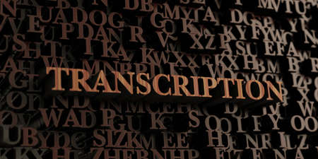 transcription: Transcription - Wooden 3D rendered lettersmessage.  Can be used for an online banner ad or a print postcard.