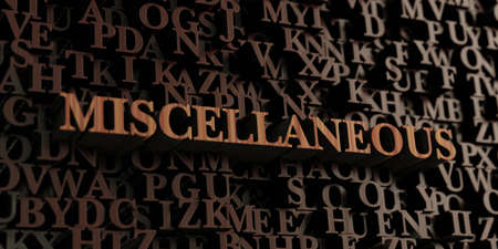 miscellaneous: Miscellaneous - Wooden 3D rendered lettersmessage.  Can be used for an online banner ad or a print postcard.