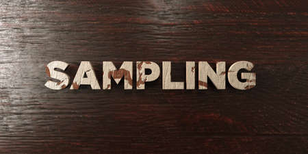 Sampling - grungy wooden headline on Maple  - 3D rendered royalty free stock image. This image can be used for an online website banner ad or a print postcard. Stok Fotoğraf
