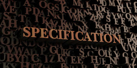 Specification - Wooden 3D rendered lettersmessage.  Can be used for an online banner ad or a print postcard. 版權商用圖片