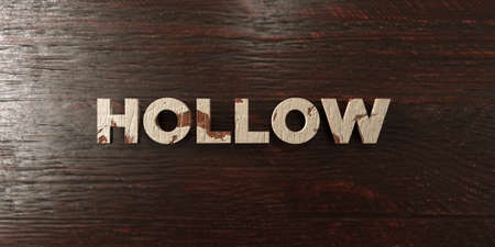 hollow body: Hollow - grungy wooden headline on Maple  - 3D rendered royalty free stock image. This image can be used for an online website banner ad or a print postcard.