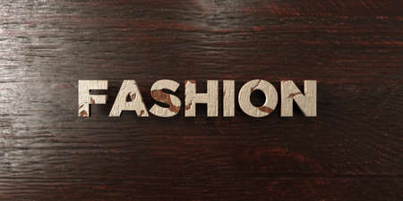 Fashion - grungy wooden headline on Maple  - 3D rendered royalty free stock image. This image can be used for an online website banner ad or a print postcard.