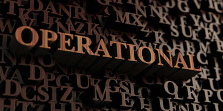 Operational - Wooden 3D rendered lettersmessage.  Can be used for an online banner ad or a print postcard.
