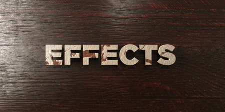 Effects - grungy wooden headline on Maple  - 3D rendered royalty free stock image. This image can be used for an online website banner ad or a print postcard.