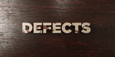 defects: Defects - grungy wooden headline on Maple  - 3D rendered royalty free stock image. This image can be used for an online website banner ad or a print postcard.