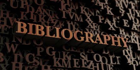 Bibliografía - 3D de madera rindió las letras / mensaje. Se puede utilizar para un banner publicitario en línea o una postal impresa. Foto de archivo - 72265563