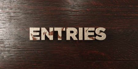 Entries - grungy wooden headline on Maple  - 3D rendered royalty free stock image. This image can be used for an online website banner ad or a print postcard. Zdjęcie Seryjne
