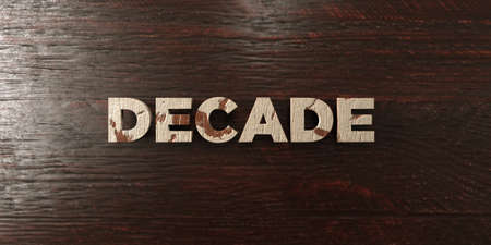 decade: Decade - grungy wooden headline on Maple  - 3D rendered royalty free stock image. This image can be used for an online website banner ad or a print postcard. Stock Photo