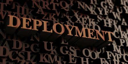 展開 - 木製 3 D 文字メッセージを表示されます。 オンラインのバナー広告や印刷のはがきに使用できます。