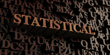 Statistical - Wooden 3D rendered lettersmessage.  Can be used for an online banner ad or a print postcard. Stock fotó