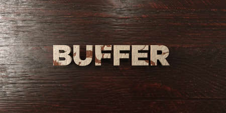 buffer: Buffer - grungy wooden headline on Maple  - 3D rendered royalty free stock image. This image can be used for an online website banner ad or a print postcard.