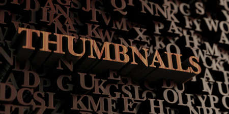 thumbnails: Thumbnails - Wooden 3D rendered lettersmessage.  Can be used for an online banner ad or a print postcard.