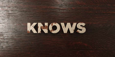 knows: Knows - grungy wooden headline on Maple  - 3D rendered royalty free stock image. This image can be used for an online website banner ad or a print postcard.