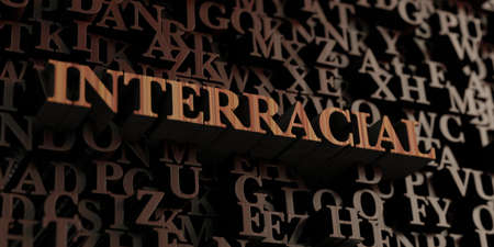 Interracial - Wooden 3D rendered lettersmessage.  Can be used for an online banner ad or a print postcard.