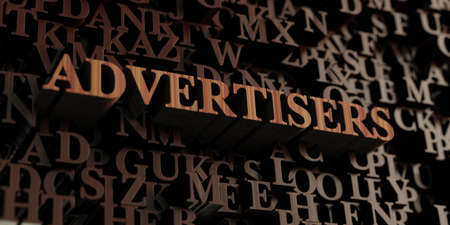 Advertisers - Wooden 3D rendered lettersmessage.  Can be used for an online banner ad or a print postcard.