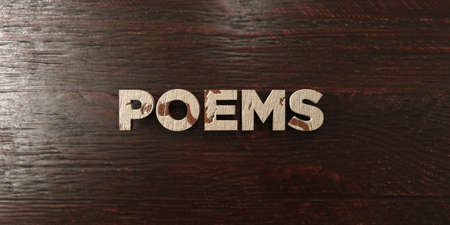 poems: Poems - grungy wooden headline on Maple  - 3D rendered royalty free stock image. This image can be used for an online website banner ad or a print postcard. Stock Photo