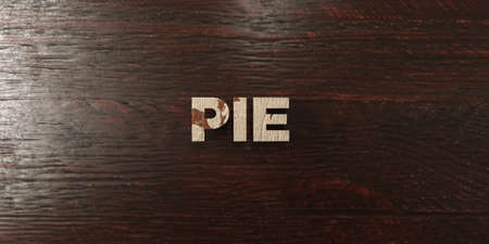 Pie - grungy wooden headline on Maple  - 3D rendered royalty free stock image. This image can be used for an online website banner ad or a print postcard.
