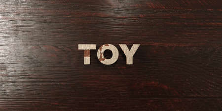 Toy - grungy wooden headline on Maple  - 3D rendered royalty free stock image. This image can be used for an online website banner ad or a print postcard. Zdjęcie Seryjne