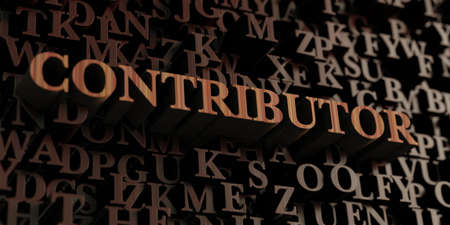 Contributor - Wooden 3D rendered lettersmessage.  Can be used for an online banner ad or a print postcard.