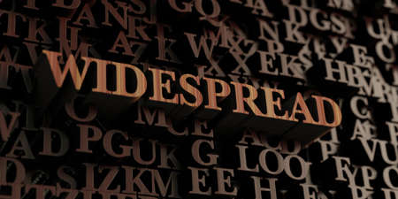 Widespread - Wooden 3D rendered lettersmessage.  Can be used for an online banner ad or a print postcard.