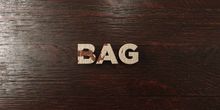 Bag - grungy wooden headline on Maple  - 3D rendered royalty free stock image. This image can be used for an online website banner ad or a print postcard.