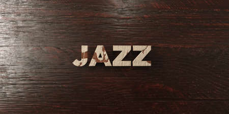 Jazz - grungy wooden headline on Maple  - 3D rendered royalty free stock image. This image can be used for an online website banner ad or a print postcard.