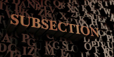Subsection - Wooden 3D rendered letters/message.  Can be used for an online banner ad or a print postcard.