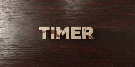 Timer - grungy wooden headline on Maple  - 3D rendered royalty free stock image. This image can be used for an online website banner ad or a print postcard.