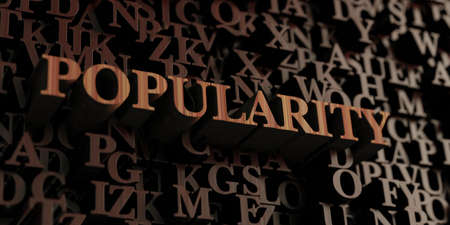popularity: Popularity - Wooden 3D rendered lettersmessage.  Can be used for an online banner ad or a print postcard.