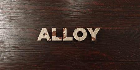 alloy: Alloy - grungy wooden headline on Maple  - 3D rendered Stock Photo