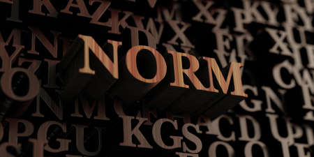 norm: Norm - Wooden 3D rendered lettersmessage.