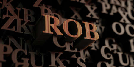 Rob - Wooden 3D rendered lettersmessage.  Can be used for an online banner ad or a print postcard.