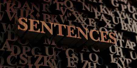 Sentences - Wooden 3D rendered lettersmessage.