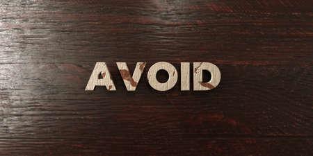 headline: Avoid - grungy wooden headline on Maple  - 3D rendered Stock Photo