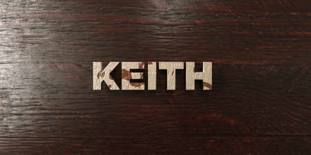 keith: Keith - grungy wooden headline on Maple  - 3D rendered Stock Photo