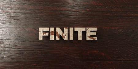 finite: Finite - grungy wooden headline on Maple - 3D rendered Stock Photo