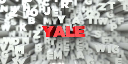 yale: YALE -  Red text on typography background - 3D rendered