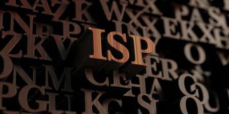 isp: Isp - Wooden 3D rendered lettersmessage.