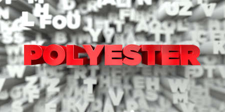 polyester: POLYESTER -  Red text on typography background - 3D rendered royalty free stock image. This image can be used for an online website banner ad or a print postcard.