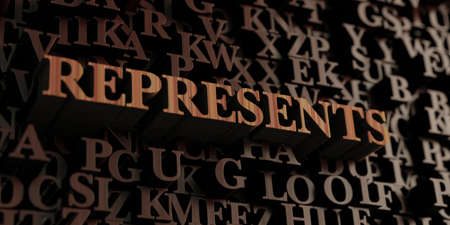 Represents - Wooden 3D rendered lettersmessage.  Can be used for an online banner ad or a print postcard.