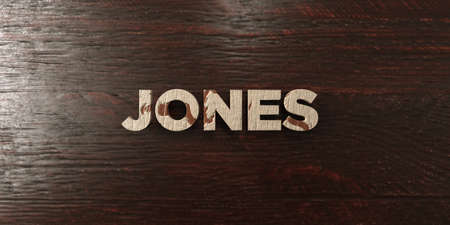 jones: Jones - grungy wooden headline on Maple  - 3D rendered royalty free stock image. This image can be used for an online website banner ad or a print postcard.