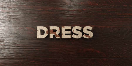 Dress - grungy wooden headline on Maple  - 3D rendered royalty free stock image. This image can be used for an online website banner ad or a print postcard. Zdjęcie Seryjne