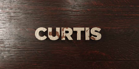 curtis: Curtis - grungy wooden headline on Maple  - 3D rendered royalty free stock image. This image can be used for an online website banner ad or a print postcard. Stock Photo