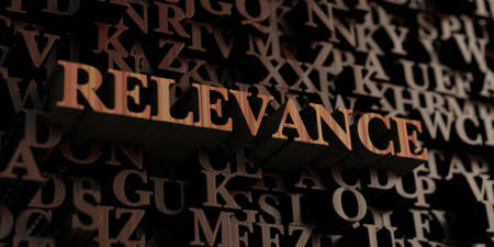 Relevance - Wooden 3D rendered lettersmessage.  Can be used for an online banner ad or a print postcard.