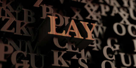 lay: Lay - Wooden 3D rendered lettersmessage.
