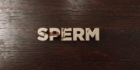 Sperme - titre en bois grungy sur Maple - image 3D stock libre de droits. Cette image peut être utilisée pour une bannière publicitaire en ligne ou une carte postale imprimée. Banque d'images - 72427313