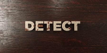 headline: Detect - grungy wooden headline on Maple  - 3D rendered Stock Photo