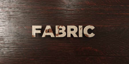 Fabric - grungy wooden headline on Maple  - 3D rendered