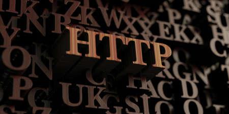 http: Http - Wooden 3D rendered lettersmessage.